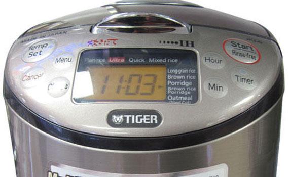 Nồi cơm điện cao tần Tiger 1 Lít JKT-S10W có bảng điều khiển thông minh