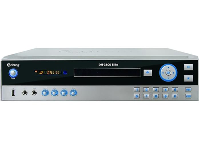 Đầu DVD Karaoke Arirang DH-3600 Elite được thiết kế với kiểu dáng hiện đại, kích thước nhỏ gọn